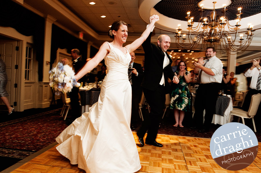 Bride and Groom introduced at Simsbury Inn