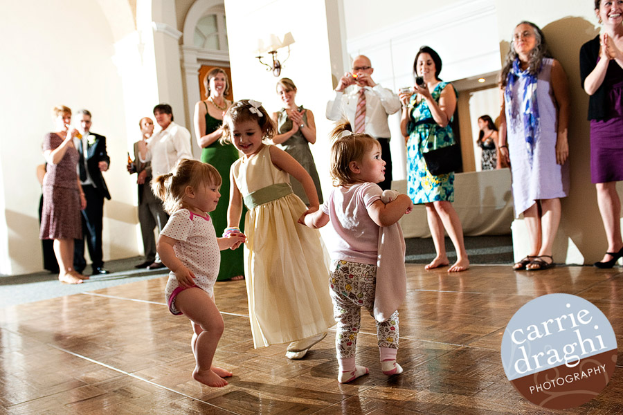 flowergirls dancing in the jammies