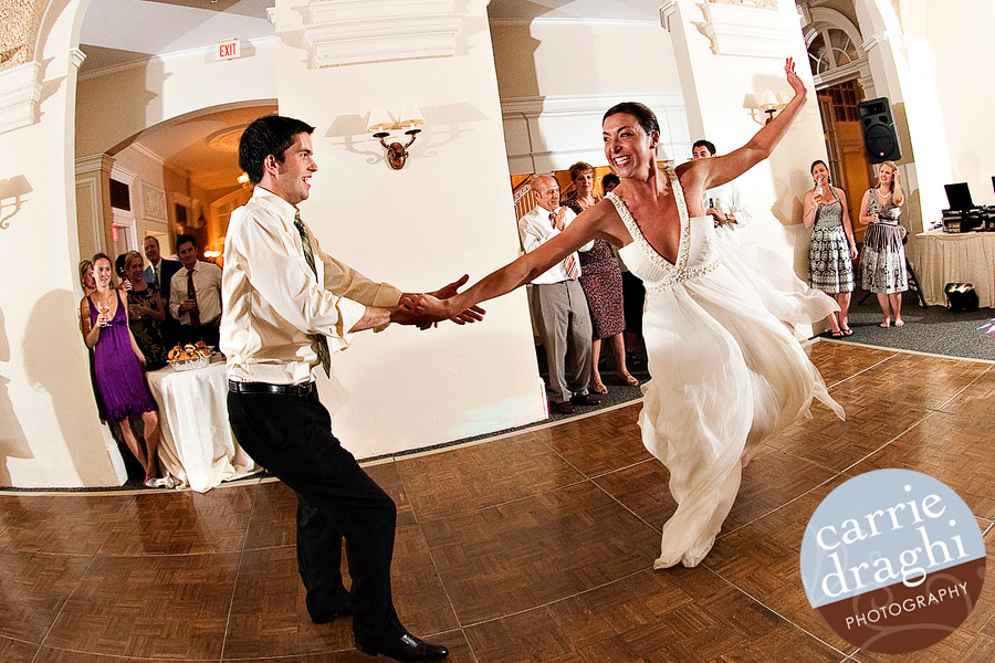 bride dancing with brother at Wadsworth Mansion